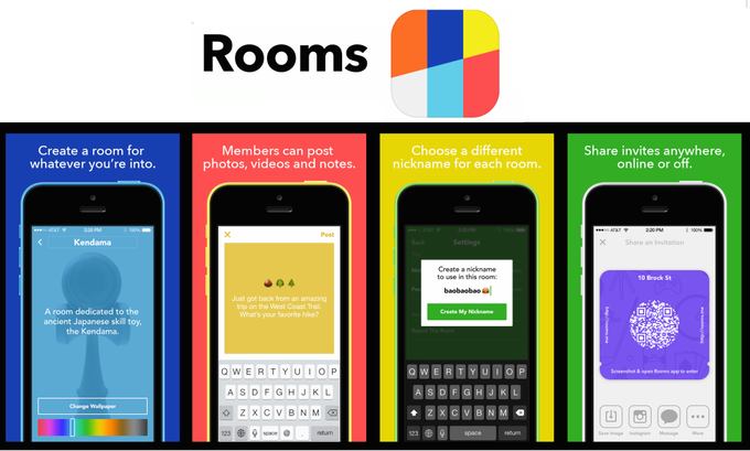 Facebook's 2014 standalone Rooms app that it shut down in 2015